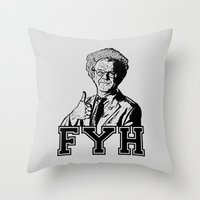 health Throw Pillows featuring For Your Health!  |  Brule by Silvio Ledbetter