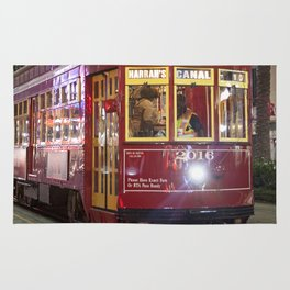 New Orleans Canal Street Car at Night Rug