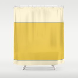 Warm Sunlight Color Block Shower Curtain
