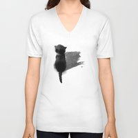 kitty V-neck T-shirts featuring kitty by Anja Lechner