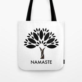 Namaste Tree Tote Bag