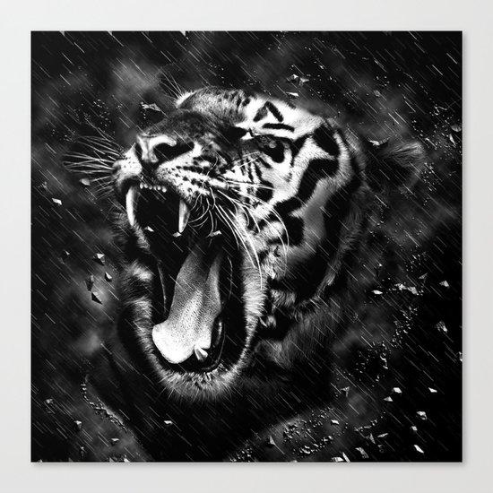 Tiger Head Wildlife Canvas Print