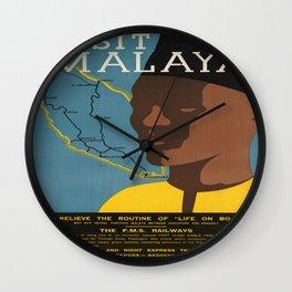 Vintage poster - Malaya Wall Clock