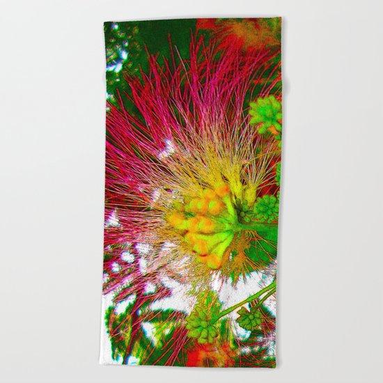 EXOTIC FLOWER Beach Towel