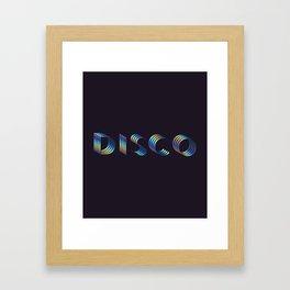 DISCO #society6artprint #decor #disco Framed Art Print