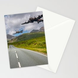 Lancaster Bomber in Snowdonia Stationery Cards