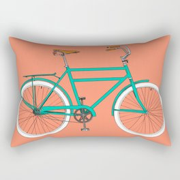Brooklyn Cruiser - Bike print illustration Rectangular Pillow