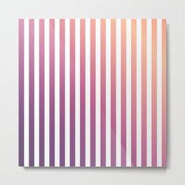 pastel stripes or pinstripes Metal Print