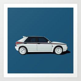 rally racing car Art Print