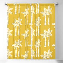 Palm Tree Pattern Mustard Yellow Blackout Curtain