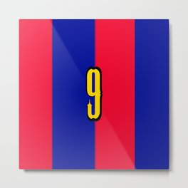 soccer team jersey number nine Metal Print