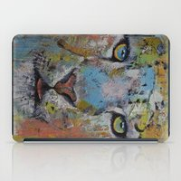 snow leopard iPad Cases featuring Leopard by Michael Creese