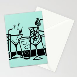 Retro Cocktails I Stationery Cards