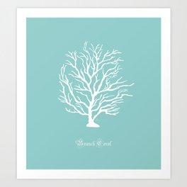AFE Branch Coral, Sea Breeze Art Print