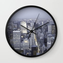 NYC from Empire State Building Wall Clock
