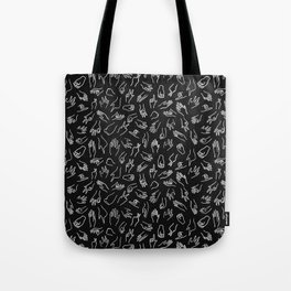 Mixed Signals Pattern in Black Tote Bag