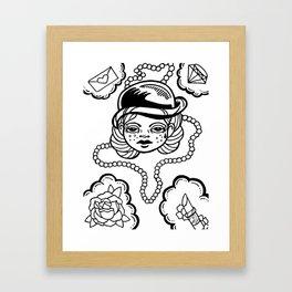 A Girl's Best Friends Framed Art Print