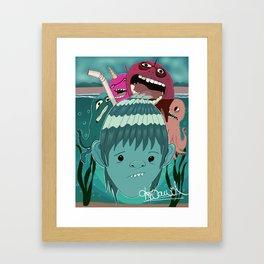 """Aquaboy"" by Kieran David Framed Art Print"