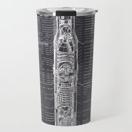 Apollo 11 Saturn V Blueprint Travel Mug
