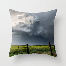 Harmony - Storm Cloud Over Southern Plains Throw Pillow