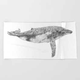 A Humpback Whale Beach Towel