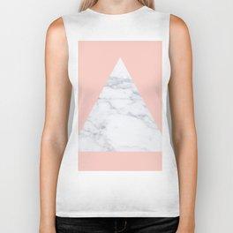 Blush marble triangle Biker Tank