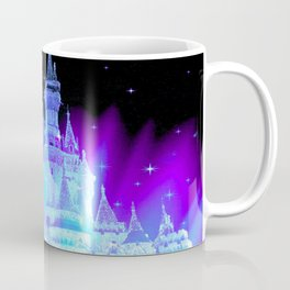 Enchanted Castle Turquoise Purple Coffee Mug