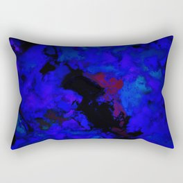A dark blue crash Rectangular Pillow