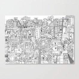 Tel Aviv (B&W) Canvas Print