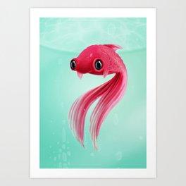 Little Fish Coy Koi Art Print