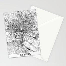 Hamburg White Map Stationery Cards