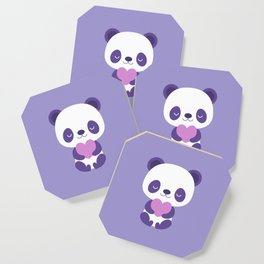 Cute purple baby pandas Coaster