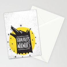 WEREWOLF RIGHTS Stationery Cards