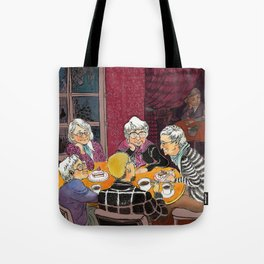 grandmas' tea party Tote Bag