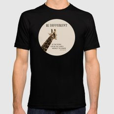 Be Different Mens Fitted Tee Black MEDIUM