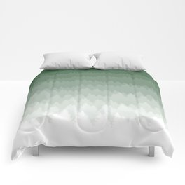Green Ombré Forest Comforters