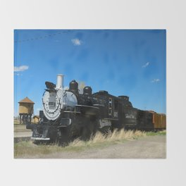 Denver & Rio Grande Steam Engine Throw Blanket