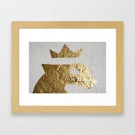 Gold Crown Framed Art Print