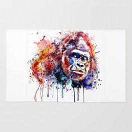 Gorilla Watercolor portrait Rug