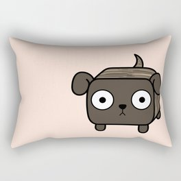 Pitbull Loaf- Brindle Pit Bull with Floppy Ears Rectangular Pillow