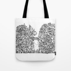 Busy City VII Tote Bag