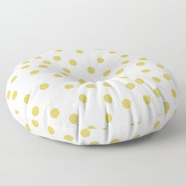 Simply Dots in Mod Yellow on White Floor Pillow