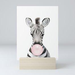 Bubble Gum Zebra Mini Art Print