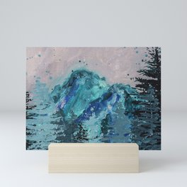 Mount Baker - Washington - Mountain Painting Mini Art Print