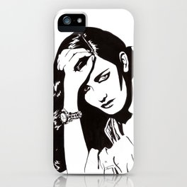 In Black & White IV iPhone Case