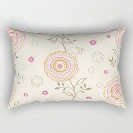 Folky Flowers Rectangular Pillow