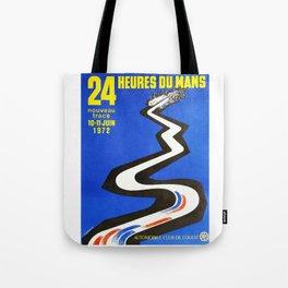 1972 Le Mans poster, car poster, race poster, t-shirt Tote Bag