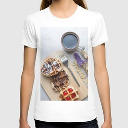 Waffles with black coffee T-shirt