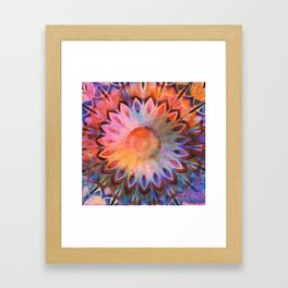 Autumn Rainbow Kaleidoscope Framed Art Print