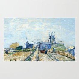 Vincent Van Gogh - Montmatre mills and vegetable gardens Rug